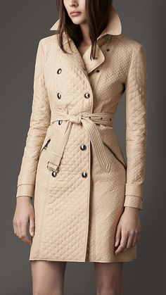 QUILTED TAFFETA TRENCH COAT