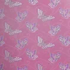 GIRLS-BEDROOM-BUTTERFLY-WALLPAPER-IN-PINK-WHITE-TEAL-MORE-NEW-FREE-P-P