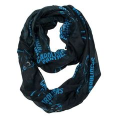 NFL Carolina Panthers Sheer Infinity Scarf Blue