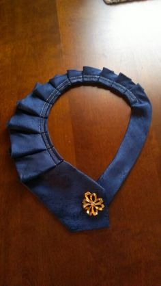 From man's necktie to my neck embellishment.