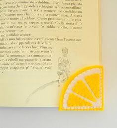 Lemon slice Bookmark Felt Bookmark Corner Bookmark