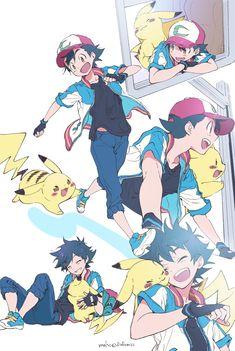 Pokemon Luna, Pokemon Fan Art, Pokemon Fusion, Satoshi Pokemon, Pokemon Ash And Serena, Pokemon People, Cute Pikachu, Pikachu Art, Cute Pokemon Wallpaper