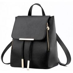 Women Backpack, Womail Girl School Student Leather Daypack Rucksack... (29 RON) ❤ liked on Polyvore featuring bags, backpacks, backpack, real leather bags, daypack bag, knapsack bag, rucksack bags and day pack backpack