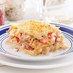 Royal Seafood Lasagna - Recipes - Food and nutrition - Pratico Practice Moussaka, Orzo, Pasta, Seafood Lasagna Recipes, Fruit Nutrition, Tapas, How To Cook Fish, Fish And Seafood, Fish Recipes
