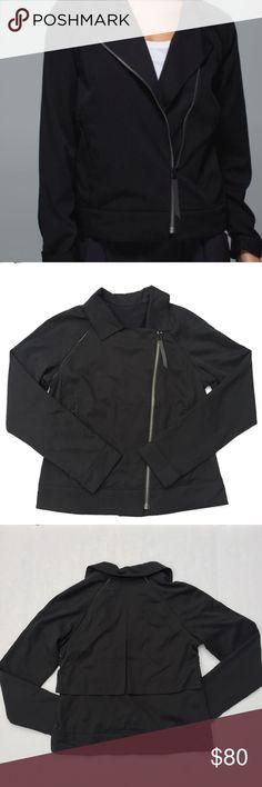 Lululemon Soft Summer Jacket 6 Black Lululemon Soft Summer Jacket 6 Black - EUC - See Photo to confirm size will fit you - lululemon athletica Jackets & Coats