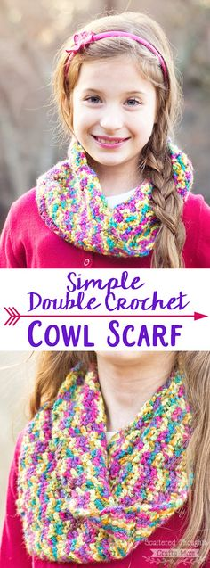 Make this adorable Double Crochet Cowl. The double crochet stitch is perfect for quick and easy crochet projects. (And the video tutorial is a great refresher for those of us that need it!)