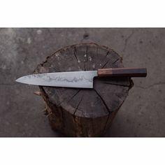 W2 steel with hamon 240 mm Gyuto yaka and gidgee handle by the.9 nine Robert Trimarchi