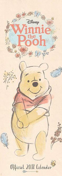 Winnie The Pooh Sketch Official Slim 2018 Calendar
