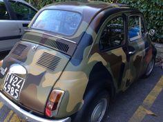 Camo car.  Bellagio, Italy