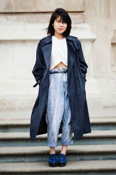 Easy going spring time blues outfit