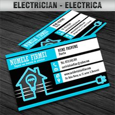 Electric electrician business card construction business cards business card electrician reheart Choice Image