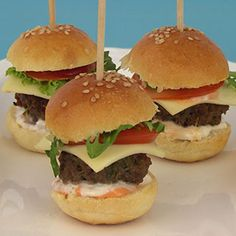 Mini burgers - party food