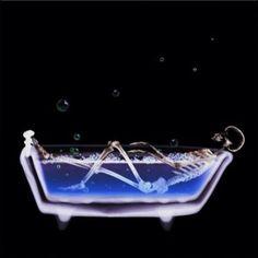 Bath Tub X-Ray Vision Skeleton