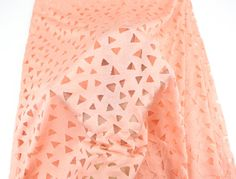 Hey, I found this really awesome Etsy listing at https://www.etsy.com/listing/279204190/peach-triangular-burnout-knit-fabric-by