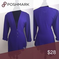 Vintage Dark Purple Slanted Low-cut Blazer Vintage Dark Purple Slanted Low-cut Blazer ~ 🚺 Size: L ~ Good condition ~ 📦 Quick Shipping Jackets & Coats Blazers