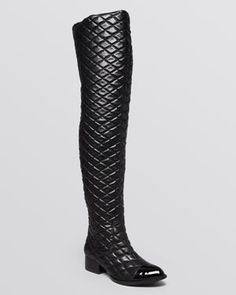 Jeffrey Campbell Over The Knee Boots - Emastone Quilted
