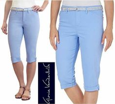 Fashionlicious - online shop indonesia branded: Gloria Vanderbilt Slimming Effect Capri Jeans