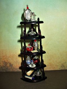 Gothic Witch spell hutch dollhouse miniature corner shelving ooak gypsy. $46.00, via Etsy.