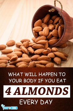 Almond can help to treat many diseases like lower the cholesterol level, make you gut healthy, good for eye health and make your skin healthy. Health Benefits Of Almonds, Almond Benefits, Fruit Benefits, Healthy Food Choices, Healthy Fruits, Healthy Recipes, Healthy Foods, Soaked Almonds, Raw Almonds