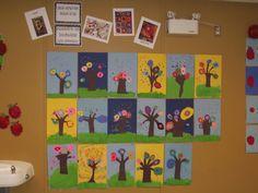 La maternelle de Francesca: Nos arbres rigolos à la manière de Kandinsky!