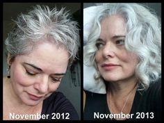 Sharon's hair change in 1 year. Nov 2012 to Nov 2013