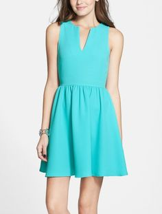 Adding a cardigan and cute tights to this jade skater dress for fall.