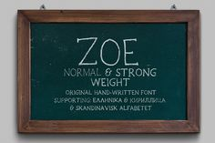 Zoe Handwritten Font by Elegrad Design Agency on @creativemarket