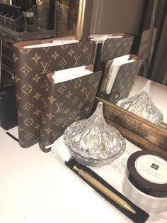 Louis Vuitton Agenda, Louis Vuitton Monogram, Stationary Set, Desk Set, Designer Bags, Life Planner, Lust, Journaling, Notebook