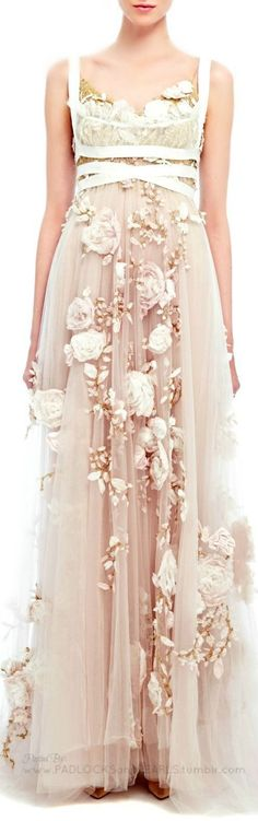 Obviously I'll start this board out right with MY FAVORITE DRESS OF ALL TIME.  (Marchesa - Spring/Summer 2014)