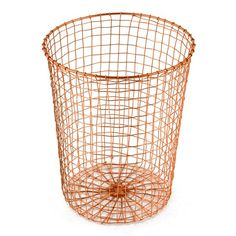 Cabo+Waste+Can+-+Copper+-+Add+some+metallic+style+to+your+study+with+this+wonderful+wire+waste+paper+bin+from+Design+Ideas! The+Cabo+Waste+Can+in+Copper+is+ideal+for+holding+waste+paper,+whilst+adding+a+stylish+edge+to+the+room.+Hand+woven+from+metal+wire+in+a+cool+copper+finish,+this+brilliant+bin+is+a+must+have+for+anyone+who+needs+to+cut+the+clutter+in+their+home+office…