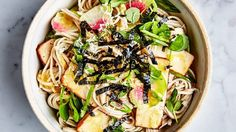 Soba with Tofu and Miso-Mustard Dressing Recipe | Bon Appetit