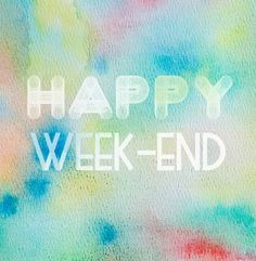 """free font - I like """"Week-End"""" Bon Weekend, Happy Weekend, Weekend Greetings, Jolie Phrase, Days Of Week, Have A Happy Day, Weekend Quotes, Love Is All, Daily Quotes"""