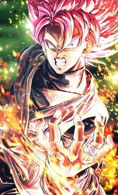 Goku black super Saiyan rose by Black Goku, Goku Black Super Saiyan, Goku Super, Black Dragon, Mega Anime, Super Anime, Dragon Ball Image, Dragon Ball Gt, Foto Do Goku