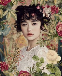 Portrait Photography Inspiration : ❀ Flower Maiden Fantasy ❀ beautiful photography of women and flowers -… - Beauty Photography Portrait Fotografie Inspiration, Fotografie Portraits, Photography Women, Beauty Photography, Portrait Photography, Asian Photography, Photo Portrait, Photocollage, Fantasy