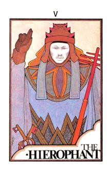 The Hierophant Tarot Card - Aquarian Tarot Deck | Favorite Art