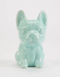 Ceramic Frenchie Bank ($9)