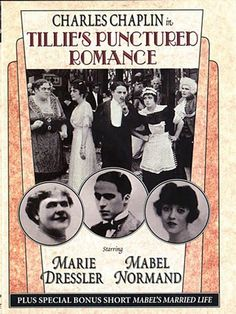 Tillie's Punctured Romance is a 1914 American silent comedy film directed by directed by Mack Sennett and starring Marie Dressler, Mabel Normand, Charles Chaplin, and the Keystone Cops. The picture was the first feature-length film produced by the Keystone Film Company.