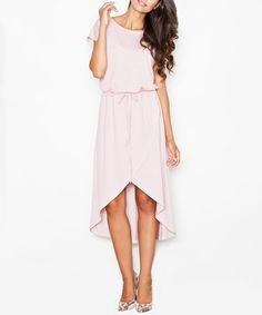 Another great find on #zulily! Pink Tie-Waist Hi-Low Dress #zulilyfinds