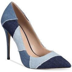 Aldo Women's Jany Pointy Pumps found on Polyvore featuring shoes, pumps, heels, denim, denim heels shoes, heel pump, aldo pumps, aldo footwear and pointy shoes