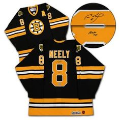 40766f467 AJ Sports World NEEC102000 CAM Neely Boston Bruins Signed 80s Retro Jersey  w- HOF