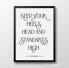 Inpsirational Quotes Coco Chanel print by PinkLemonArts on Etsy