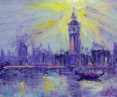 "Saatchi Art Artist: Anastasia Kachina; Acrylic 2014 Painting ""London"""