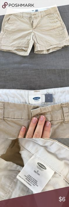 """Old Navy Khaki Shorts Good used condition. 3.5"""" inseam. No modeling, trades, or transactions off poshmark. Bundle and save! Old Navy Shorts"""