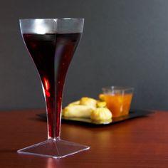 Fineline Wavetrends 1208 Clear Plastic 8 oz. Wine Glass - 72 / Case