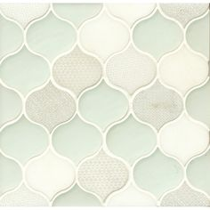 "Panache 10"" x 10.5"" Glass and Stone Mosaic Tile in Silk & Reviews 