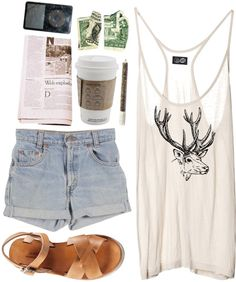 """""""Morning Coffee"""" by vv0lf ❤ liked on Polyvore"""