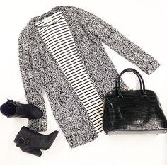 Knit Sweater $34 Stripe Long Sleeve $20 Bag $60 Shoes $46 @ Primp Boutique