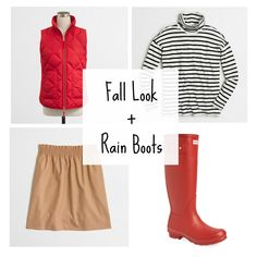 Fall Outfit + Hunter Rain Boots
