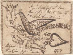 Drawing for Jacob Zug - Fraktur 3/17/1807