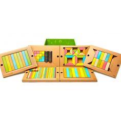 Bloques mágicos de madera 130 piezas